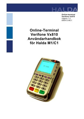 VX810 med Halda M1/C1