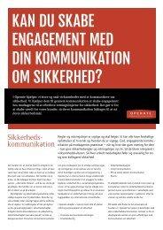 kan du skabe engagement med din kommunikation om ... - Operate