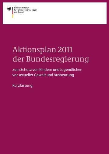 Aktionsplan 2011 der Bundesregierung zum Schutz ... - Runder Tisch