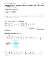 Determinanter og løsning af 2 lineære ligninger med 2 ubekendte s ...