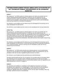 retributiereglement inzake ambulante activiteiten ... - Stad Oudenburg