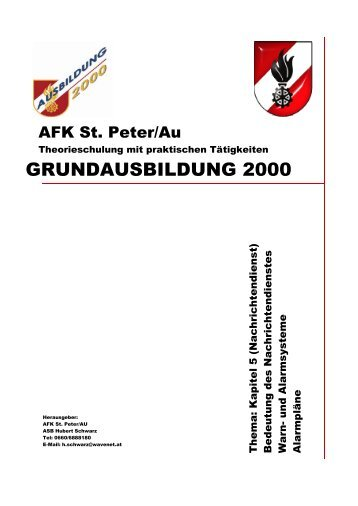 GRUNDAUSBILDUNG 2000 - AFK St. Peter/Au