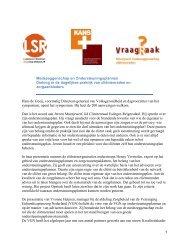 Algemeen verslag van het symposium medezeggenschap - KansPlus