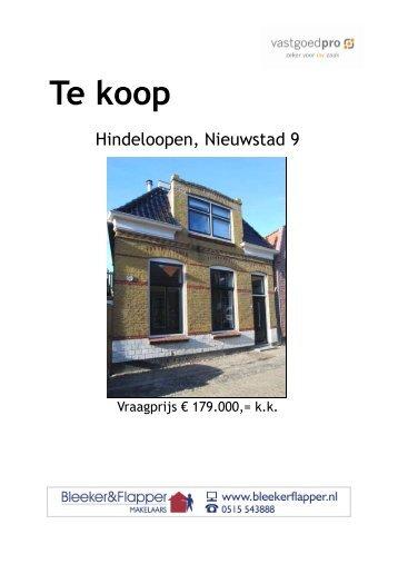 Nieuwstad 9 te Hindeloopen - Bleeker & Flapper Makelaars