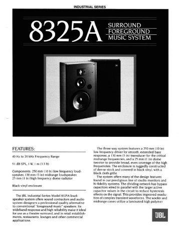 8325A - JBL Professional