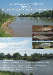 Kansen voor riviervissen binnen natuurontwikkeling ... - Rijn in Beeld