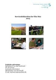 Servicedeklaration for Else Hus 2013 - Region Sjælland