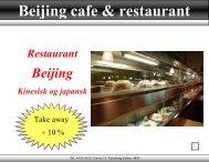 Se hele vores menukort - Restaurant Beijing