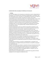 Notitie Complementaire Zorg - Verpleegkundigen & Verzorgenden ...