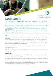 SDE-Maskinsnedker - Syddansk Erhvervsskole