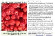 2013-14 Catalogue (pdf, 0.7 Mb) - Agroforestry Research Trust