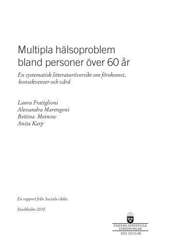 Multipla hälsoproblem bland personer över 60 år ... - FoU Välfärd