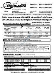 Preisliste (PDF) - Baumgartner & Rath Gmbh