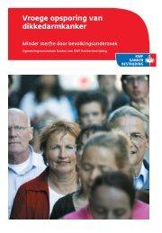 Vroege opsporing van dikkedarmkanker - KWF Kankerbestrijding