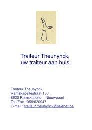 Download printversie traiteurlijst - traiteur theunynck