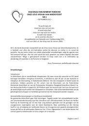 Diaconale Nieuwsbrief nr. 3 van sept. 2011 - Kerkplein Amersfoort
