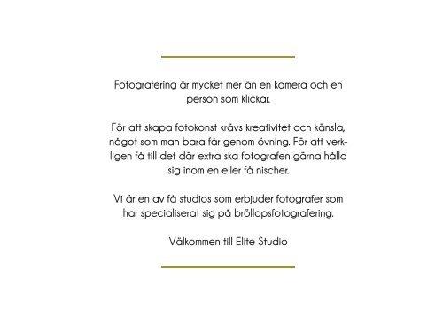 Priser och paket för 2013 hittar du här! - Elite Studio AB