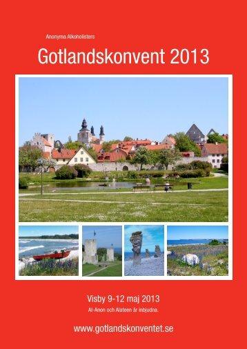 Konventbroschyren - Gotlandskonventet 2013