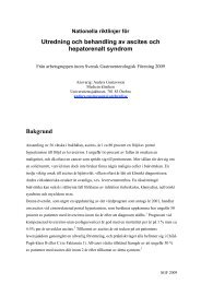 Ascites och hepatorenalt syndrom 2009 - Svensk Gastroenterologisk ...