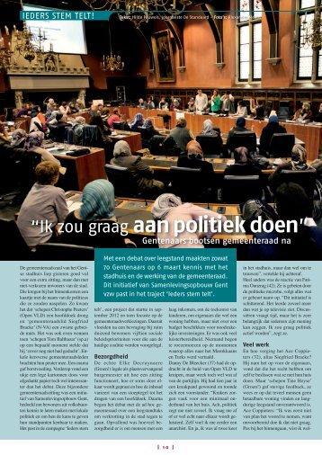 """""""Ik zou graag aan politiek doen"""" - Samenlevingsopbouw Gent"""