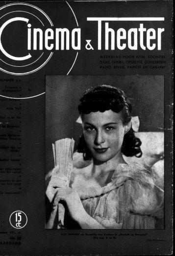 weekblad voor film, tooneel dans, opera, operette, concerten radio ...