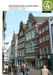 Bouwhistorie Vleesstraat 7 en 9 - Gemeente Venlo