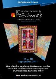 15 au 18 septembre 2011 - Le Carrefour Européen du Patchwork
