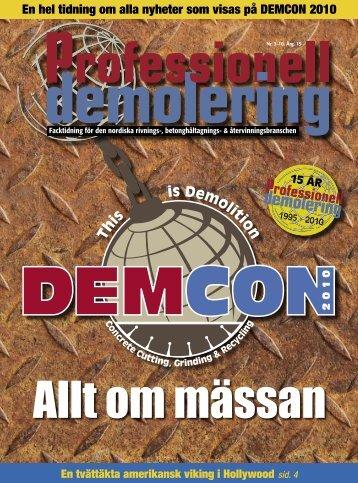 En hel tidning om alla nyheter som visas på DEMCON 2010 - PDWorld