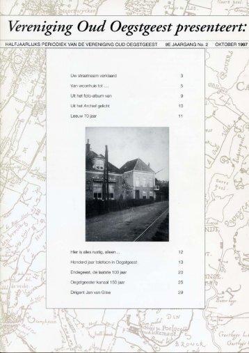 Over Oegstgeest oktober 1997 - Vereniging Oud Oegstgeest