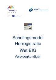 Scholingsmodel Herregistratie Wet BIG.pdf - MBO Raad