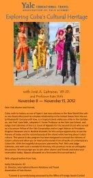 Exploring Cuba's Cultural Heritage - Association of Yale Alumni ...