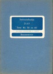 Instructieboekje Daf benzinemotor + afstellingen - Oudedaftechniek.nl