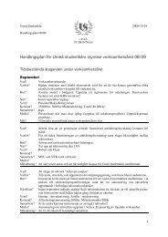 Handlingsplan 08/09 - Umeå studentkår