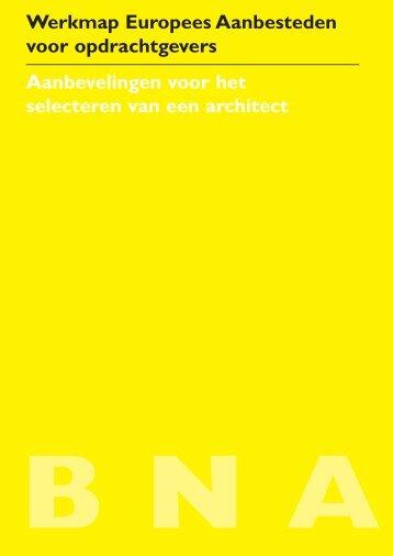 Werkmap Europees Aanbesteden voor opdrachtgevers - De bouw ...