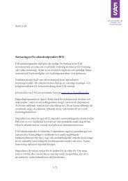 Anvisningar för utlandsstipendier (PDF) - Fas
