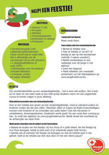 HELP! EEN FEESTJE! - Jeugd Rode Kruis