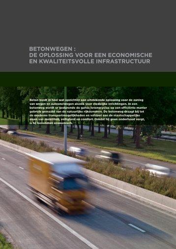 Betonwegen : de oplossing voor een economische en ... - Febelcem