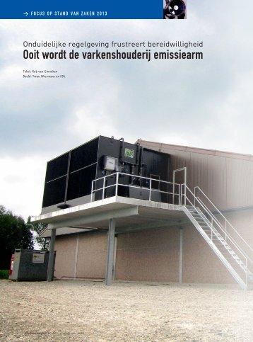 ooit wordt de varkenshouderij emissiearm - Varkensbedrijf