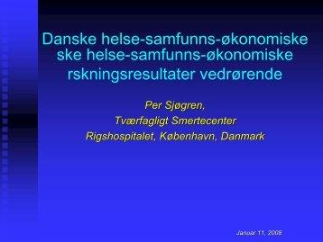 Danske helse-samfunns-økonomiske ske helse-samfunns ...