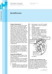 Atrieflimren - EPIS - Gentofte Hospital