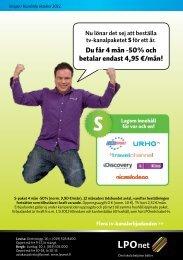 Du får 4 mån -50% och betalar endast 4,95 €/mån!