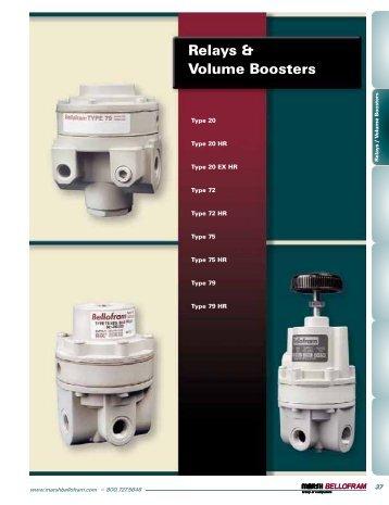 Relays & Volume Boosters - Marsh Bellofram
