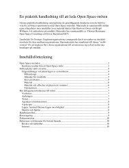 En praktisk handledning till att leda Open Space ... - Kunskapsbanken
