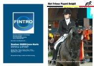 Het Friese Paard België voorjaar 2010 (boekje) - BSFP