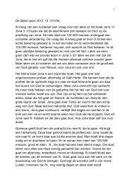 De Bijbel open 2013 15 (13-04) Ik kreeg van een luisteraar een ...
