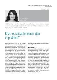 Khat: et sosial fenomen eller et problem? - Borgestadklinikken