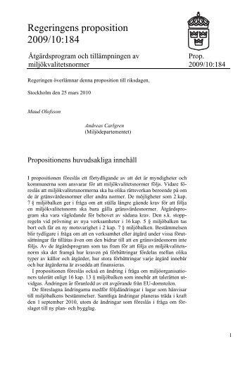 Proposition 2009/10:184 - Knutpunkt Slussen