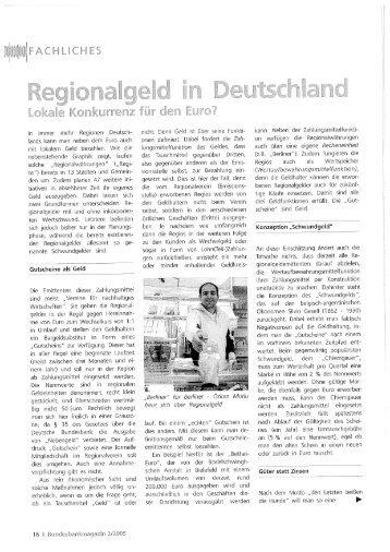 Regionalgeld in Deutschland - Userpage