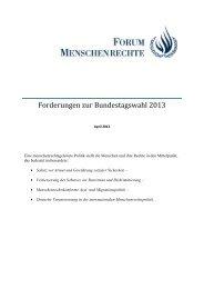hier - Forum Menschenrechte