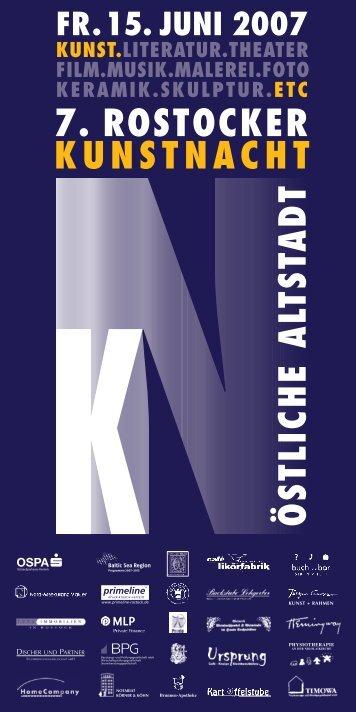 Programm Rostocker Kunstnacht 2007 (PDF) - Östliche Altstadt ...